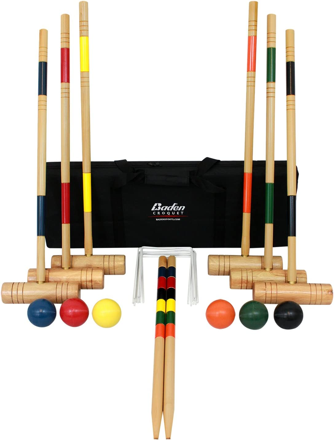 Amazon.com : Baden Deluxe Series Croquet Set : Croquet Set For ...