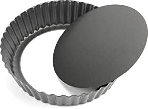 """Tosnail 9.5"""" x 2"""" Nonstick Tart Pan Quiche Pan Pie Pan with Removable Bottom"""