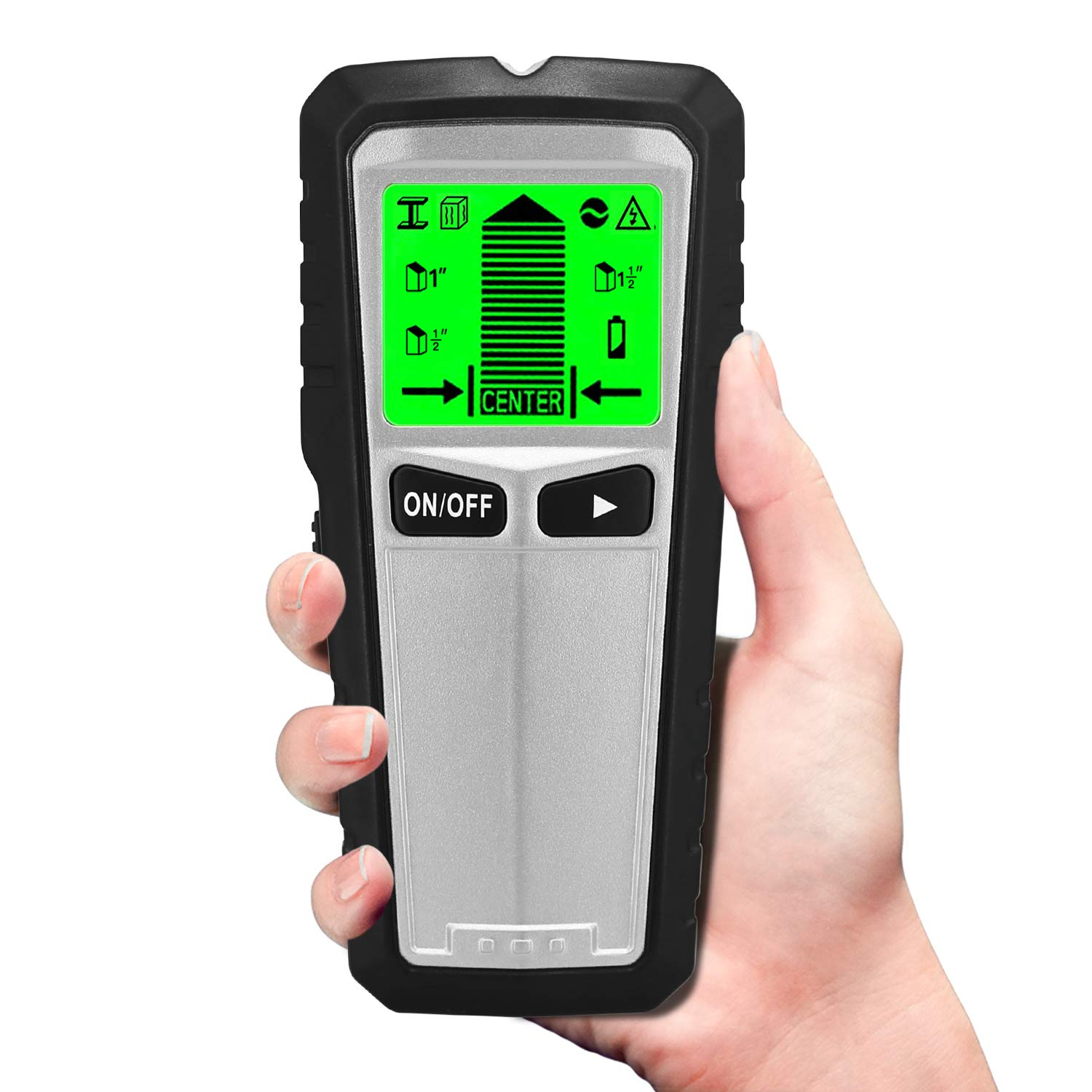 Stud Finder, 5 in 1 Multifunctional Wall Scanner Detector with Digital LCD Display & Sound Warning for Studs/Wood/Metal/Live AC Wires by drtulz