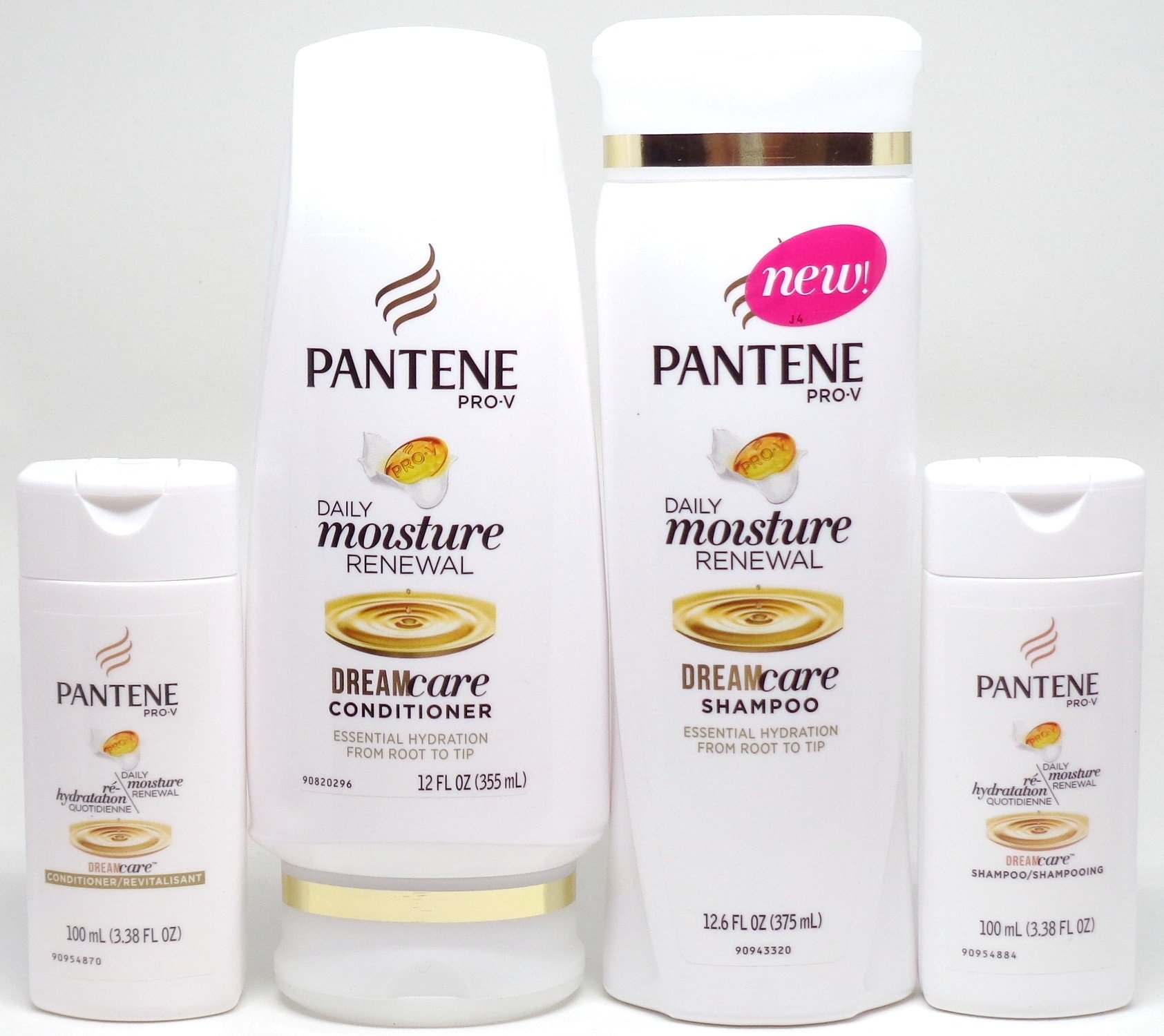 Pantene Daily Moisture Renewal Dream Care, Duo set Shampoo 12.6 Ounce + Conditioner, 12 Ounce, Plus Bonus