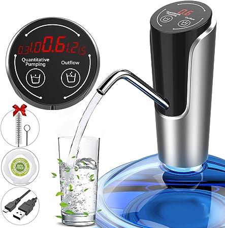 ZTKBG Bomba Caldera de 5 galones Jaula de la Botella eléctrico portátil dispensador de Agua con Control de Volumen USB Batería Recargable for Acampar Oficina Cocina: Amazon.es: Hogar