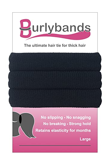 Burlybands - The Ultimate Hair Ties for Thick Heavy or Curly Hair. No  Slipping Damage 95375a556e5