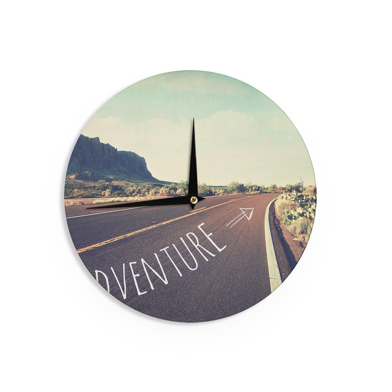 Kess InHouse Sylvia Cook Adventure Desert Road Wall Clock 12-Inch