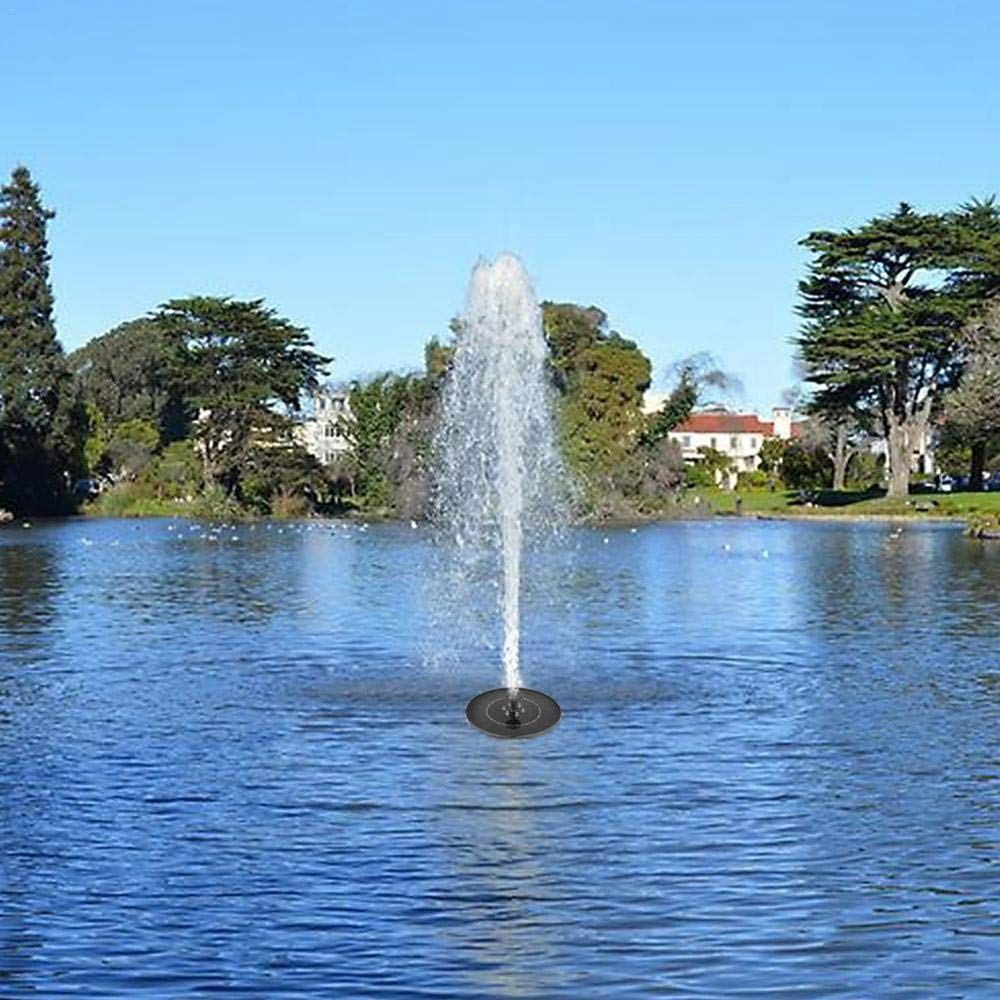 Hamkaw Solare Springbrunnenpumpe mit LED-Beleuchtung 2.4W Higher Wirkungsgrad Luftpumpe f/ür Schwimmbrunnen Solare f/ür die Badezimmer der Vogel