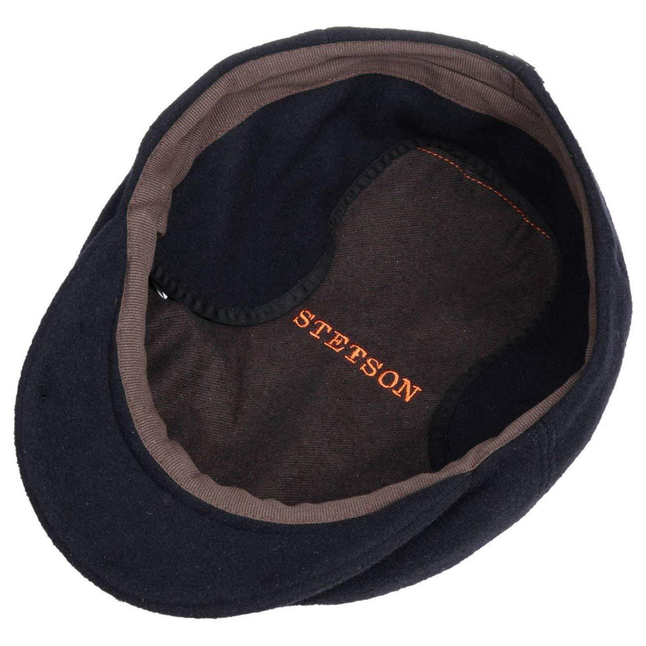 Stetson Kent Wool Earflaps Flat Cap Men