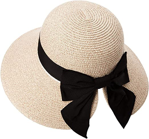 Comhats Womens Floppy Summer Sun Beach Straw Hat