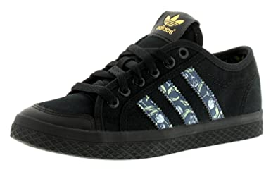 adidas New Ladies Womens Black Originals Honey Lace Ups Trainers - Black Multi  - a7e12589d2