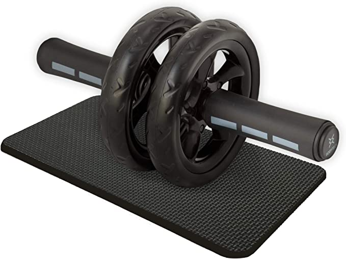 【Amazon限定ブランド】ボディテック(Bodytech) 腹筋ローラー 膝保護マット付き 耐荷重200kg 超静音 ダブルローラー エクササイズ アブホイール BTS91NH001