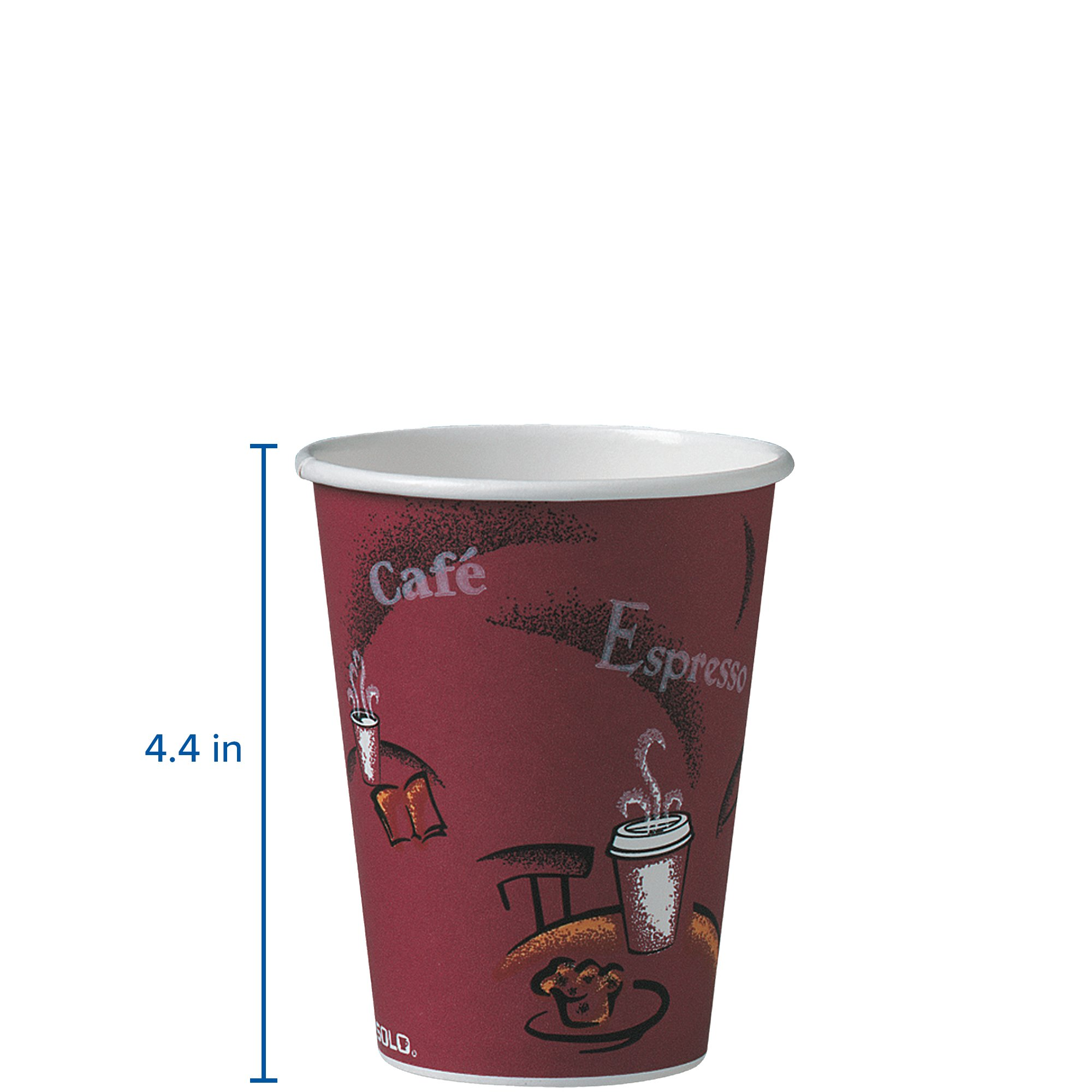 Solo 412SIN-0041 12 oz Bistro SSP Paper Hot Cup (Case of 1000) by Solo Foodservice (Image #2)