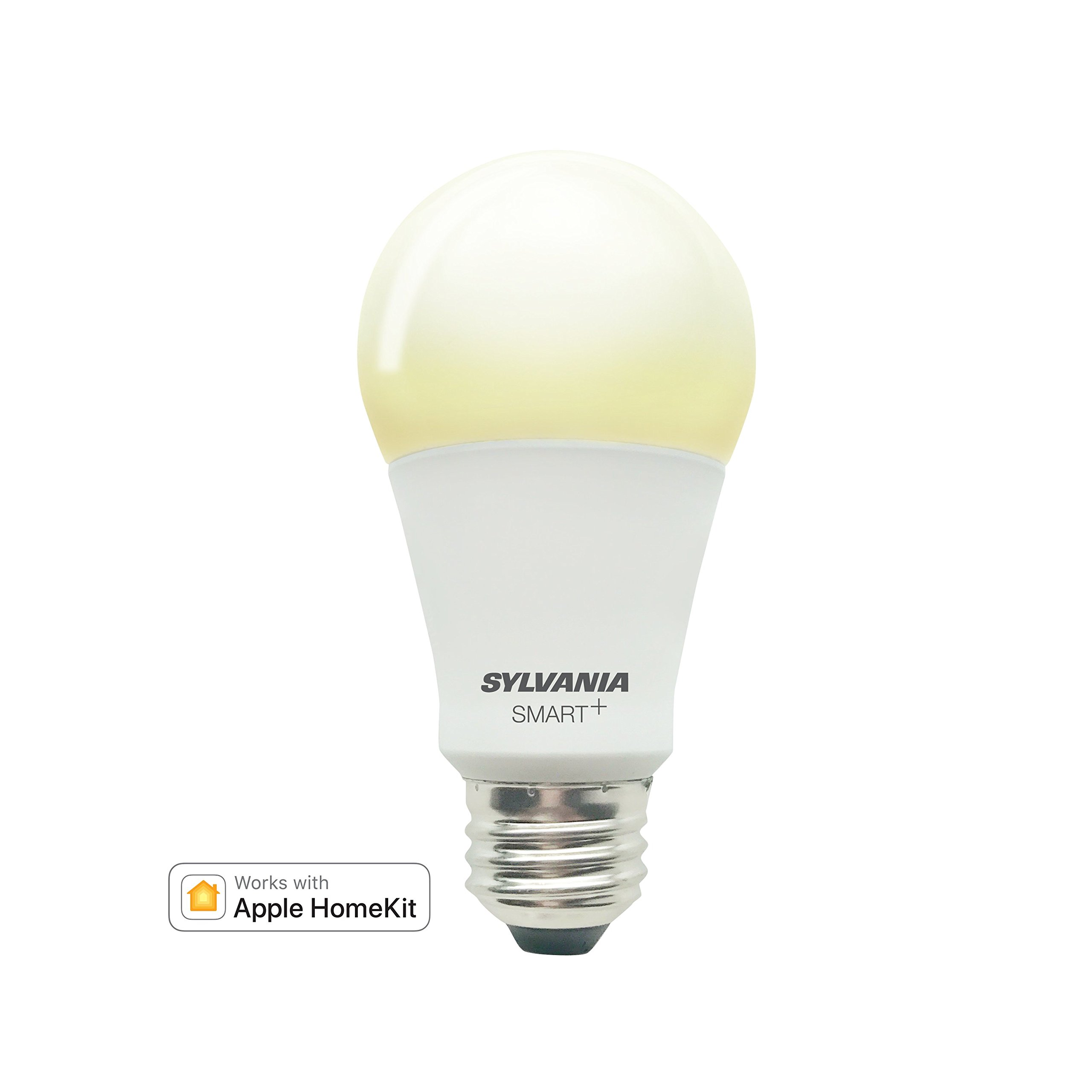 Sylvania Smart Home 74579 A19 Soft White LED Bulb, Works with Apple HomeKit and Siri Voice Control, No Hub Required, Dimamble