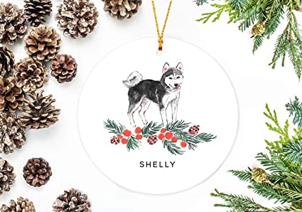 utf4c christmas ornaments 2018 husky dog decor tree decoration christmas decor siberian husky