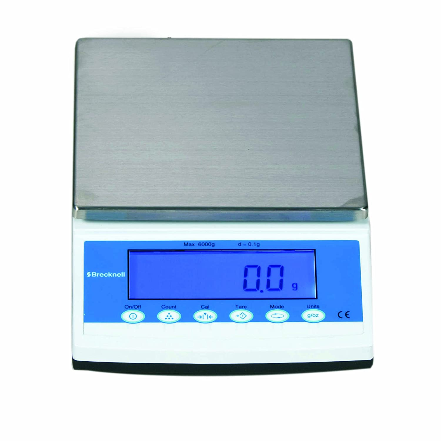 Image of Brecknell MBS-3000 Precision Lab Balances, 3000 g Capacity, Large LCD, Steel Top Plate, Plastic Digital Scales
