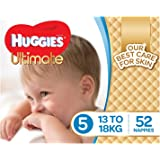 Huggies Ultimate Nappies, Boys, Size 5 Walker (13-18kg), 52 Count
