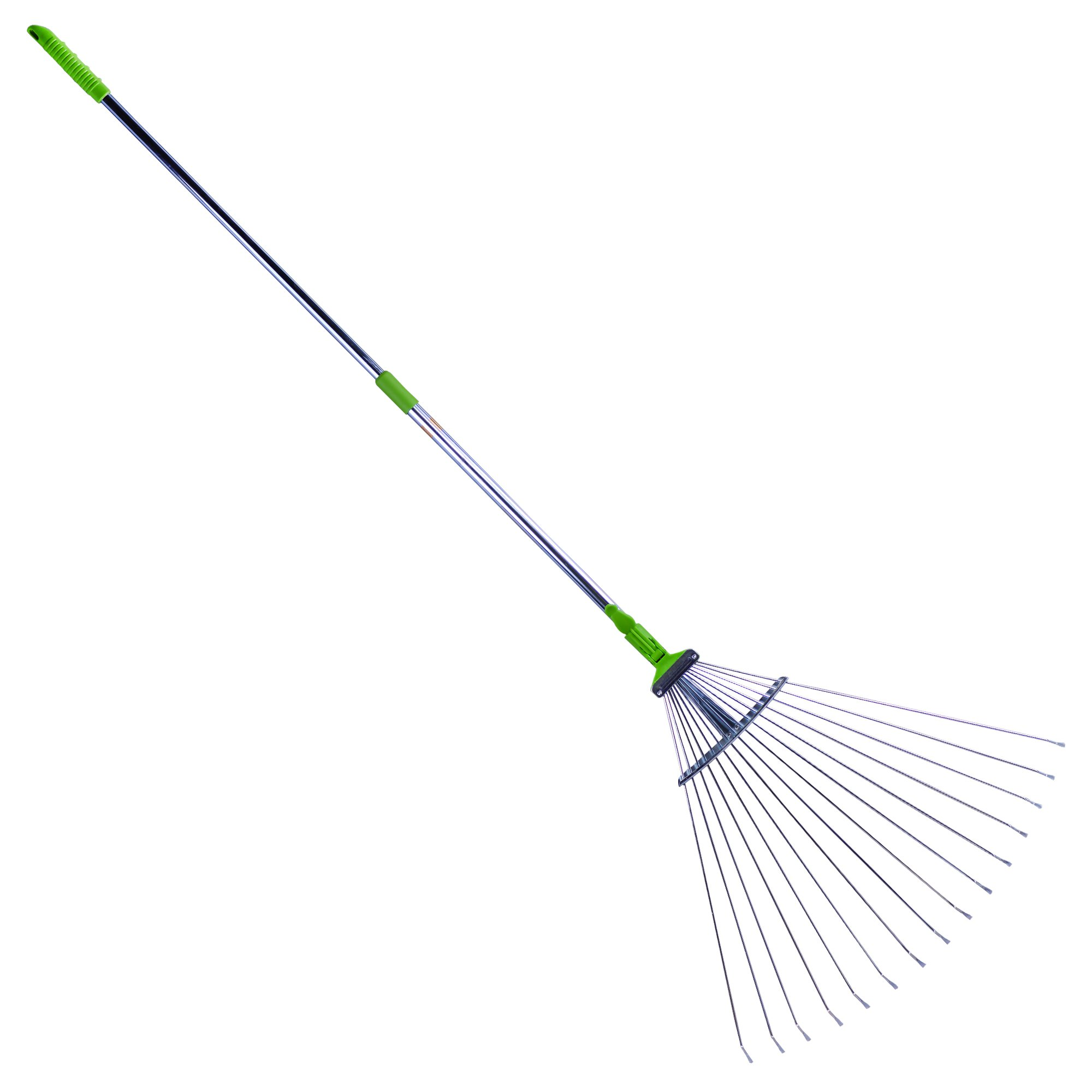 Sharpex Adjustable Garden Leaf Rake (7 inch - 37 inch, Green) product image