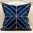 Avigers 20 x 20 Inches Navy Blue Gold Striped Cushion Cases Luxury European Throw Pillow Covers Decorative Pillows for Couch Living Room Bedroom Car