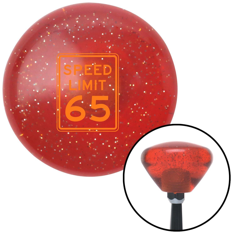 Orange Speed Limit 65 American Shifter 180363 Orange Retro Metal Flake Shift Knob with M16 x 1.5 Insert