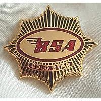 BSA Gold Star enamel lapel pin badge