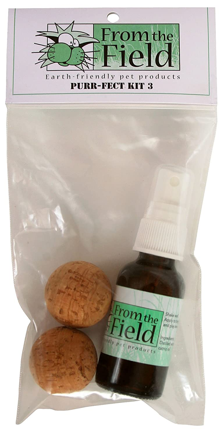 From The Field Billy Bob the Cork Ball Catnip Toy Gift Kit