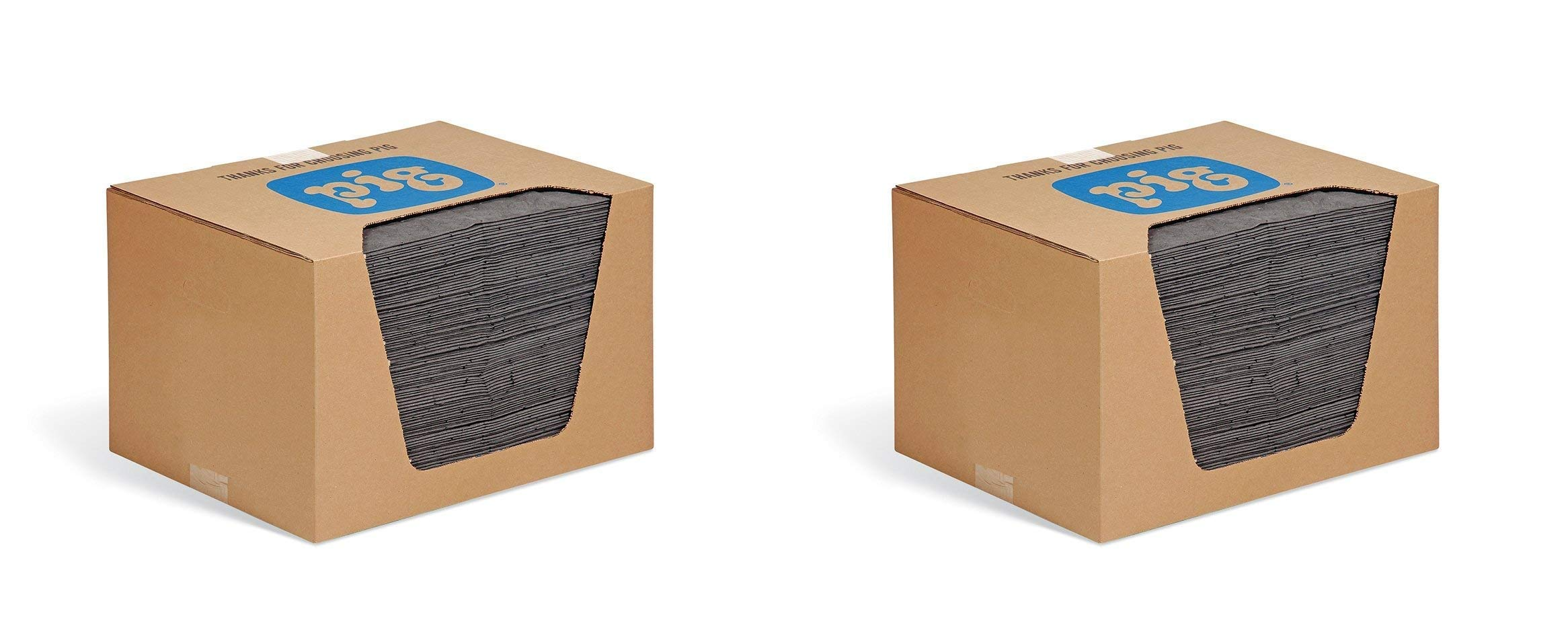 New Pig Mat - Oil Absorbent Pad Absorbs 28 Ounces - 100 Heavyweight 15'' x 20'' Mat Pads - MAT240 (Pack of 2)