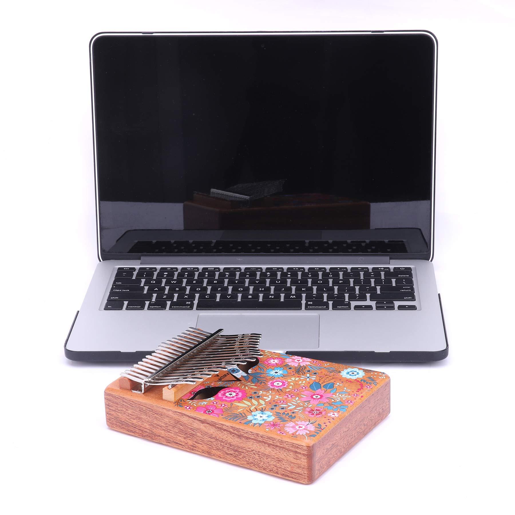 VI VICTORY 17 Key 3D Painted Kalimba African Thumb Piano Finger Percussion Keyboard Music Instruments - Sakura 2 by VI VICTORY (Image #5)