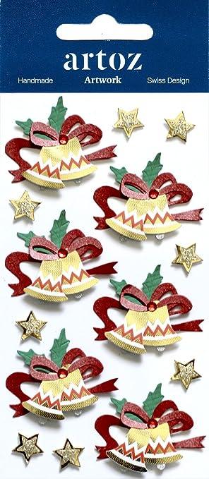 Weihnachtsbaum gold Artoz Artwork 3D-Sticker