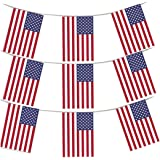 MEGA VALUE 3 x Packs 36 Foot 33 Flags Quality USA America Flag Bunting Party Decoration Banner 4th July US Independence Day Bunting