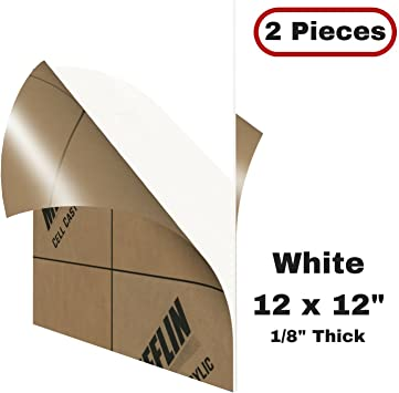 """2 SHEETS CELL CAST ACRYLIC PLEXIGLASS CLEAR 3//4/"""" x  4/""""  x  12/""""  FREE SHIPPING"""