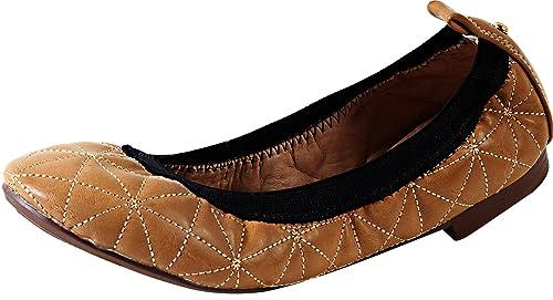 Elegant Footwear Women's Lucity-8 Foldable Elastic Stretch Ballet Flats,5.5  B(M