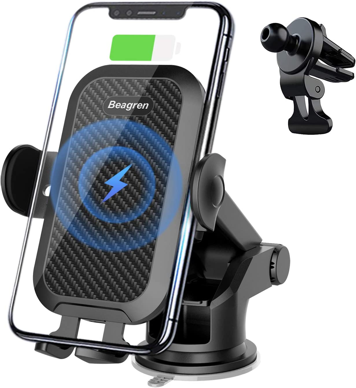 Automatic Fast Charging fineshelf 15W Wireless Car Charger Universal Phone Holder