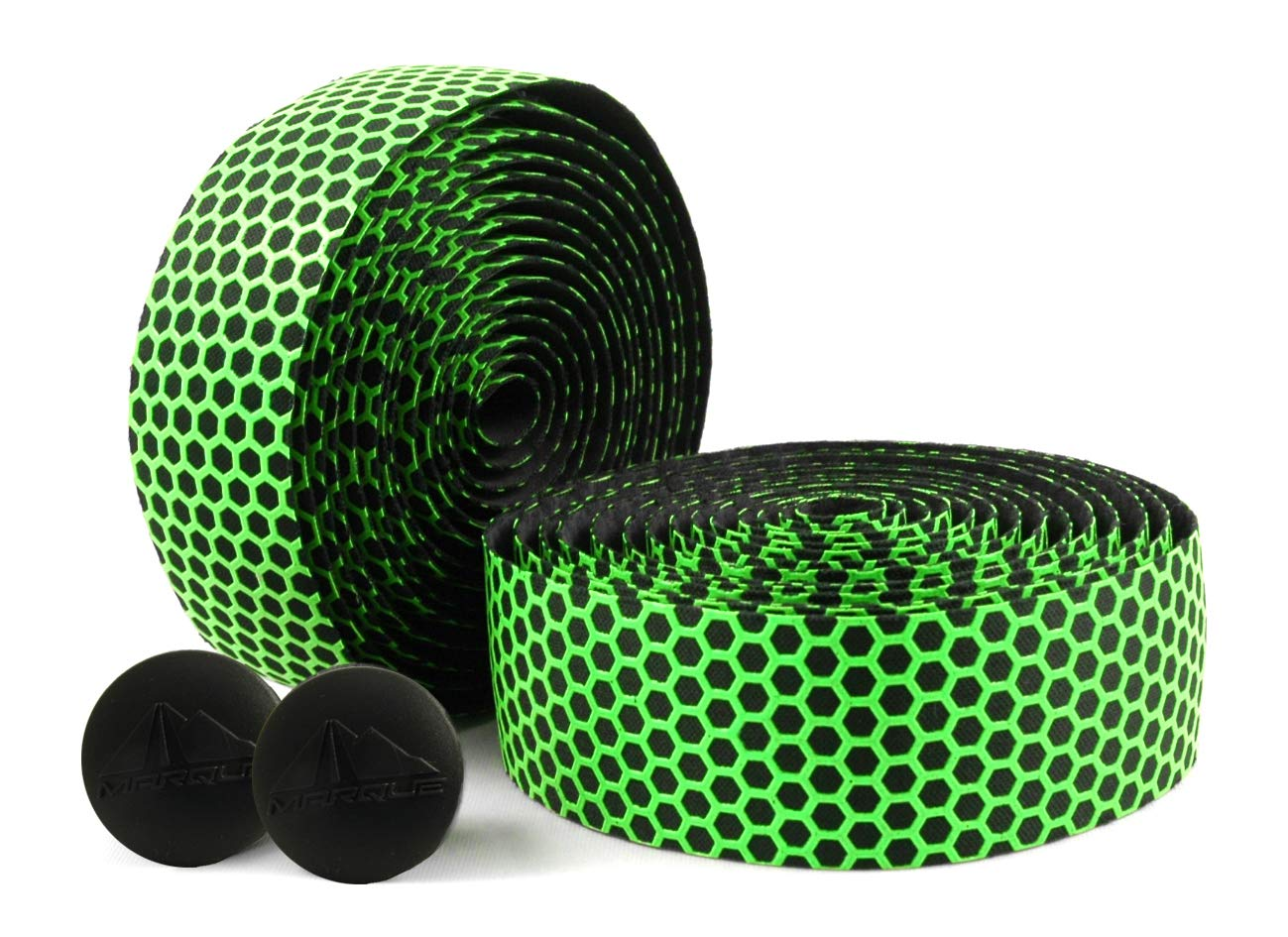 MARQUE Hex Grip Bar Tape - Road Bike Handlebar Tape 2PCS per Set (Green) by MARQUE