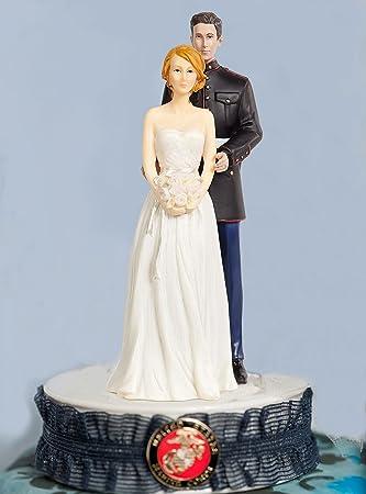 Amazon.com: Marine Corps Wedding Cake Topper: Kitchen & Dining