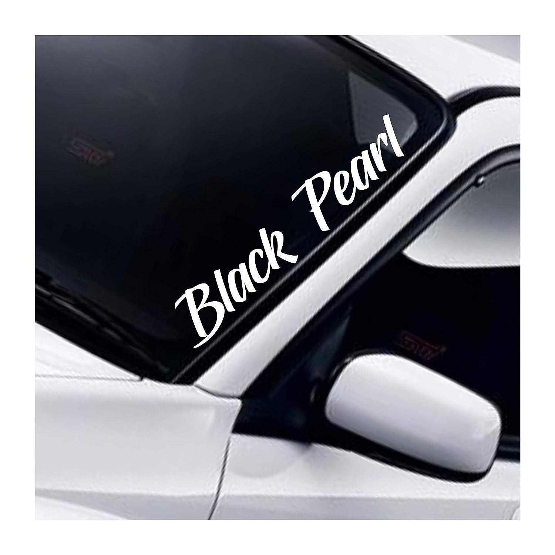 Black Pearl Frontscheibenaufkleber Static Windschutzscheibe Aufkleber Stance Low Lowered Slammed DUB JDM Drift Tuning Autoaufkleber