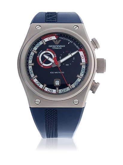 Emporio Armani AR6107 - Reloj para hombres, correa de goma color azul