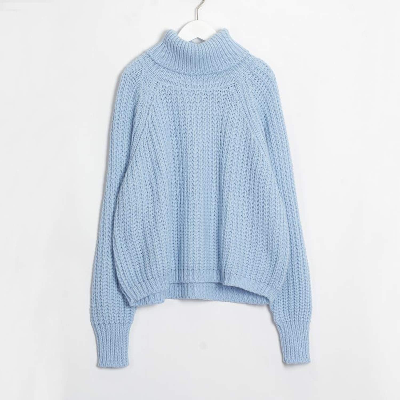 Women Turtleneck Oversized Sweater Full Sleeve Women Knit
