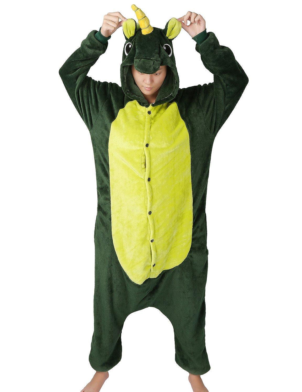 LATH.Pin® Jumpsuit Unisex animale cartone Carnevale costumi di Halloween Jumpsuit tuta pigiama in pile pigiama adulti Lounge