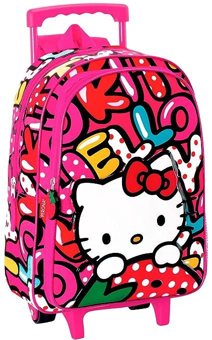Mochila Hello Kitty Infantil Pequeña con Carro