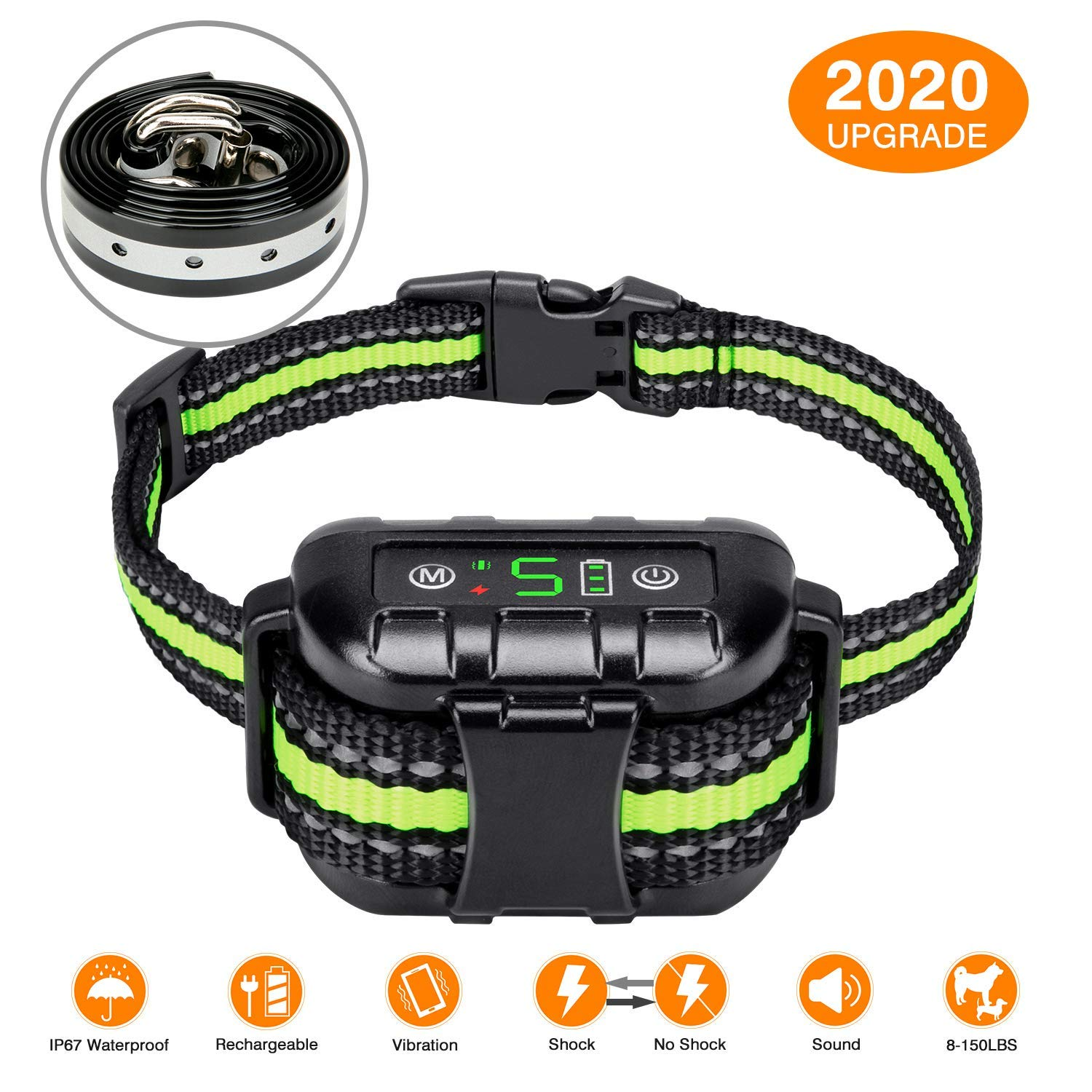 Flittor Bark Collar, No Bark Collar Rechargeable with Beep, Anti bark Collar with Adjustable Sensitivity and Intensity…