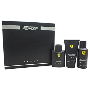 3c369deac Amazon.com   Ferrari Black for Men 3 Piece Gift Set   Beauty
