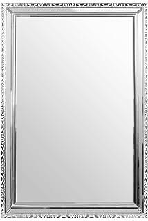 Espejo de pared espejo pared redondo metal xido cuerda espejo pared stave de ikea espejos de - Espejos marco plateado ...