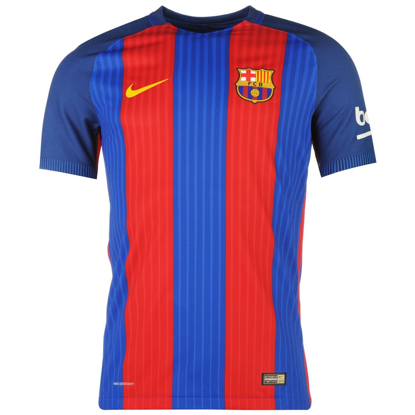 771d43acf Nike FC Barcelona Home Authentic Jersey 2016 2017 Mens Royal Red Football  Soccer Medium  Amazon.co.uk  Sports   Outdoors