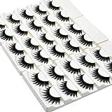 Wleec Beauty Full False Eyelash Pack Thick Eyelashes Set Handmade Strip Lashes #69 (15 Pairs/3 Pack)