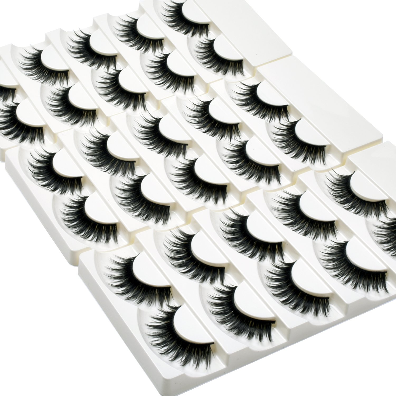 Amazon Wleec Beauty False Eyelash Pack Natural Strip Lashes
