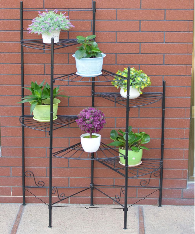 LB Eisen Blumentopf Regal Pflanze Stand Europäische Kreativ Moderne  Wohnzimmer Balkon Multi   Layer Folding Flower