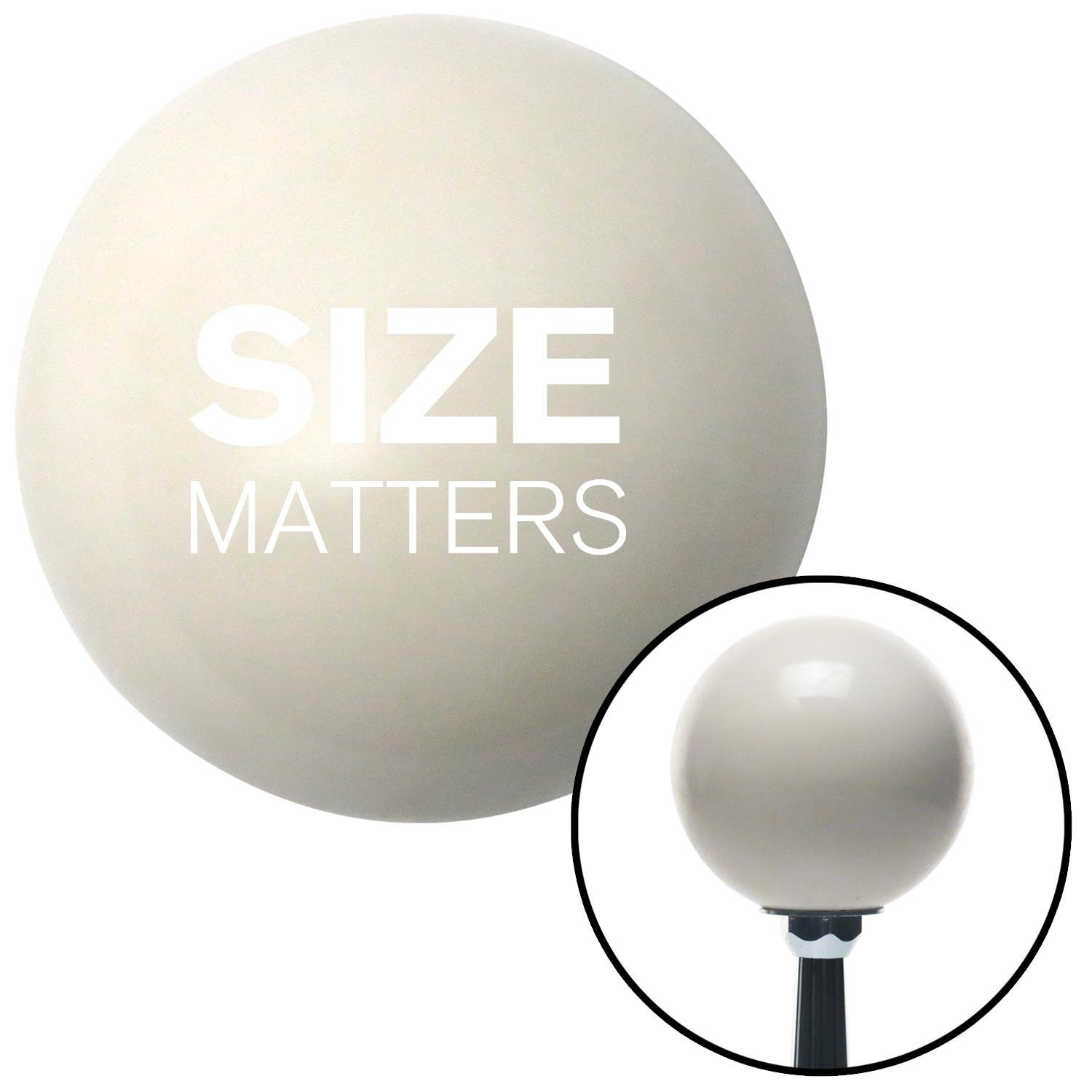 American Shifter 34426 Ivory Shift Knob with 16mm x 1.5 Insert White Size Matters