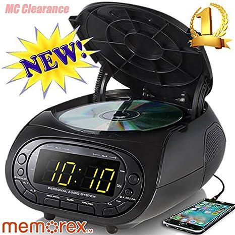 amazon com memorex cd top loading dual alarm clock am fm stereo rh amazon com Memorex CD Radio Alarm Clock Memorex Timeline CD Clock Radio Manual