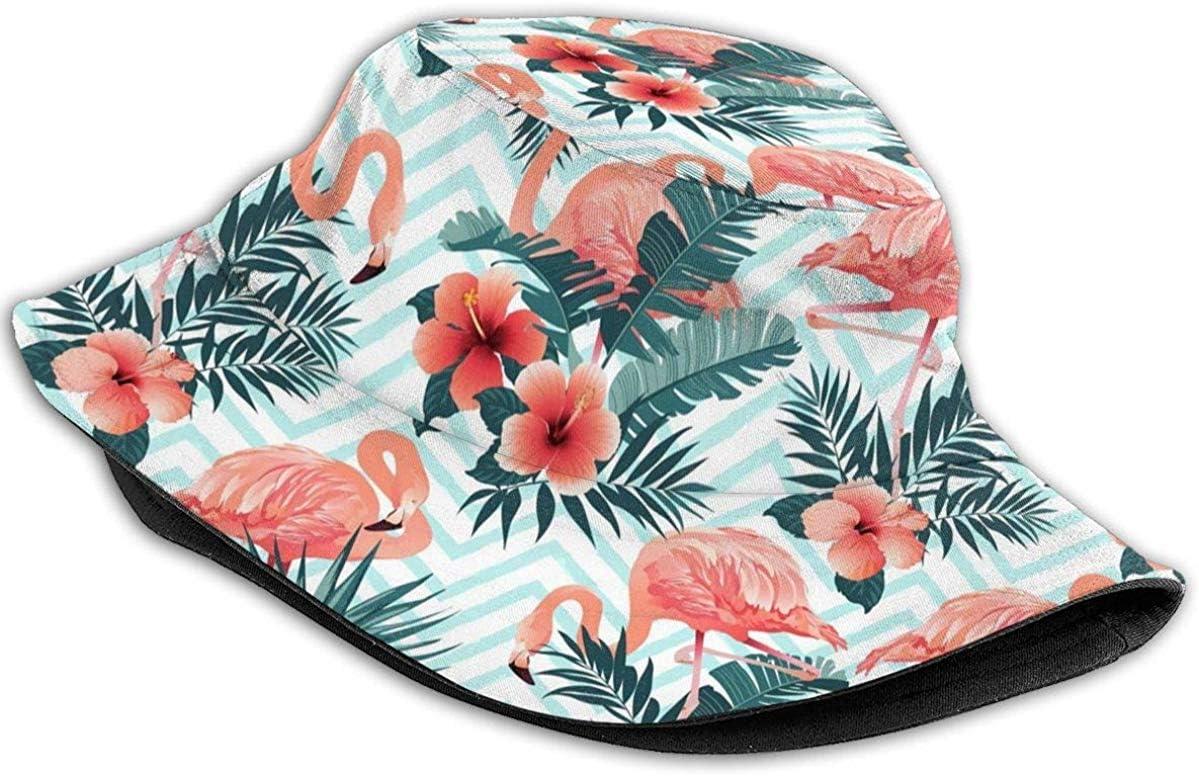 NA Hut Flamingos Sonne Fischerhut Outdoor Hut UV Sonnenschutz Hut Faltbar Leicht Atmungsaktiv Reisekappe Schwarz