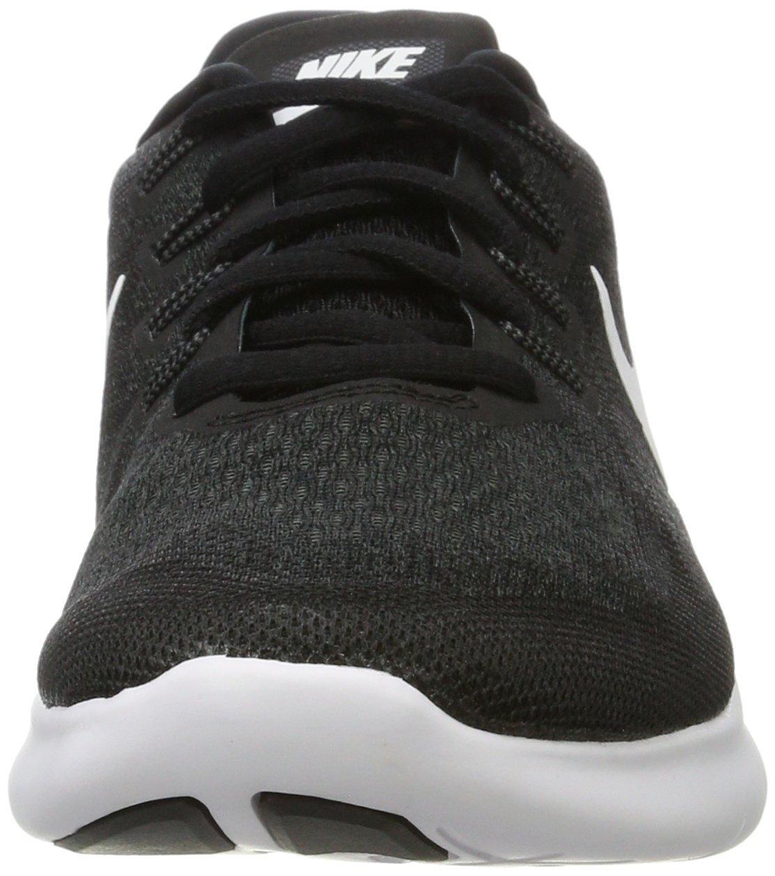 Nike Men's Free RN 2017 Running Shoe Black/White/Dark Grey/Anthracite Size 7.5 M US by Nike (Image #4)
