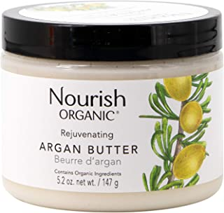 product image for Nourish Organic Rejuvenating Body Butter, Argan Butter, Fair Trade, 5.2 Ounce