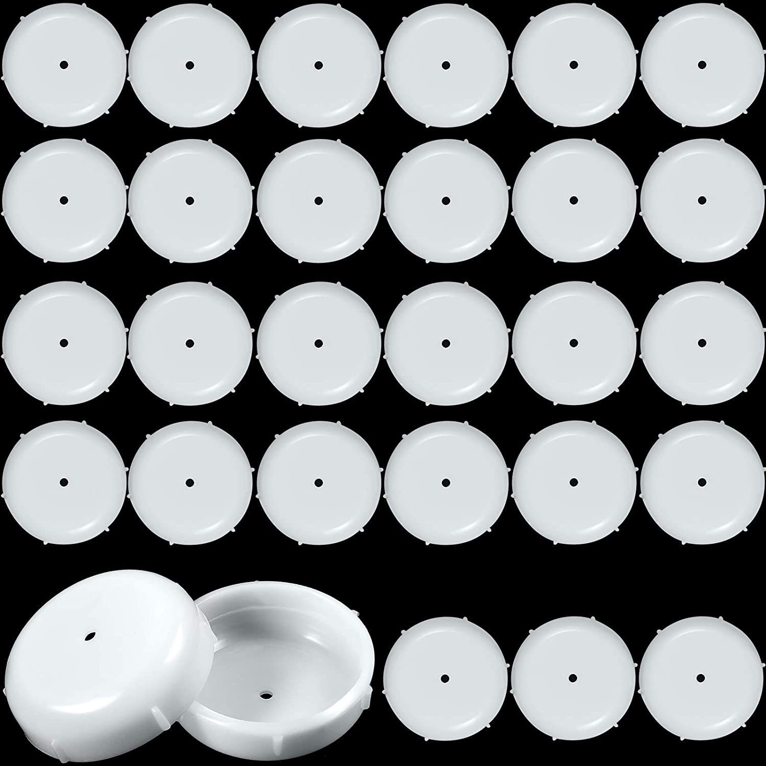 1.5 Inch Patio Furniture Seating Glides/Feet/Caps for Wrought Iron Outdoor Furniture Easy to Install Replacement Chair and Table Feet Glide Protectors/Cap (White,48 Pieces)