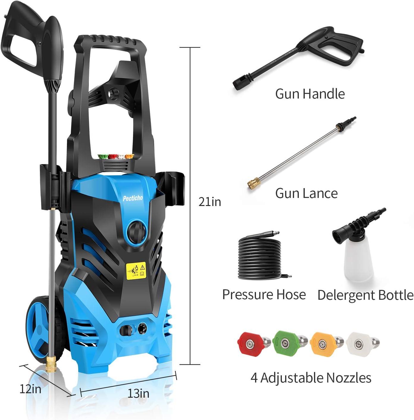 3000PSI 1.8GPM Electric Pressure Washer Home Power Cleaner Machine Sprayer-Blue